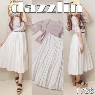 dazzlin - ♡コーデ売り1786♡レース切り替えトップス×プリーツスカート