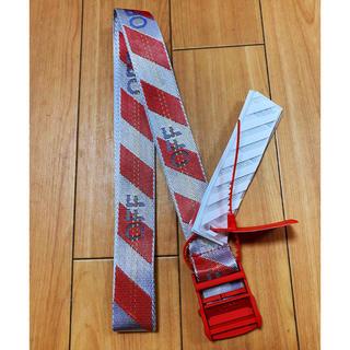 オフホワイト(OFF-WHITE)の大人気OFF-WHITE 赤色 ベルト 約200CM(ベルト)