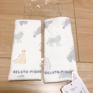 gelato pique - ジェラートピケ  ペイントアニマル柄 サッキングパッド ホワイト