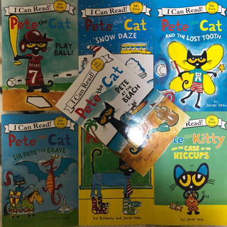 I can read Pete the cat 子供英語絵本7冊(洋書)