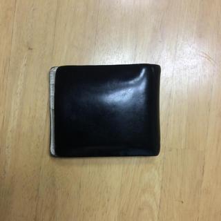 革 財布 折りたたみ ブラック (長財布)