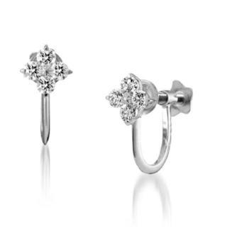 STAR JEWELRY - 新品✨スタージュエリー💎 Pt950 イヤリング プラチナ ダイヤモンド