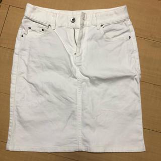 ドアーズ(DOORS / URBAN RESEARCH)のアーバンリサーチドアーズ タイトスカート ホワイト(ひざ丈スカート)