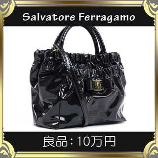サルヴァトーレフェラガモ(Salvatore Ferragamo)の【真贋査定済・送料無料】フェラガモの2wayバッグ・良品・本物・ヴァラ・人気(ショルダーバッグ)