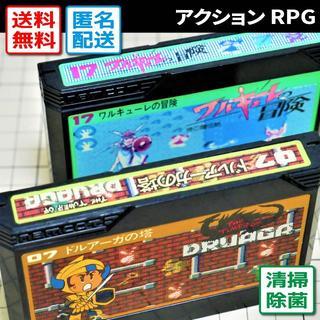 ファミリーコンピュータ(ファミリーコンピュータ)のワルキューレの冒険/ドルアーガの塔(ファミコン/FCゲームソフト)(家庭用ゲームソフト)