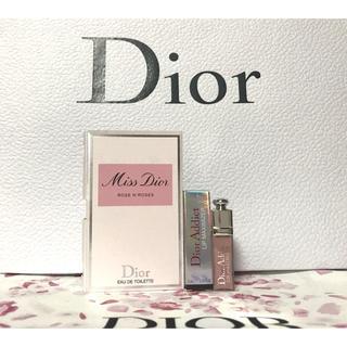 ディオール(Dior)の【新品】Dior リップマキシマイザー& ミス ディオール ローズ&ローズ (リップグロス)