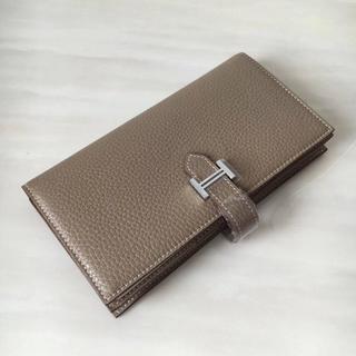 Hermes - 大人気色で欲しいエトゥープベアン スフレ長財布