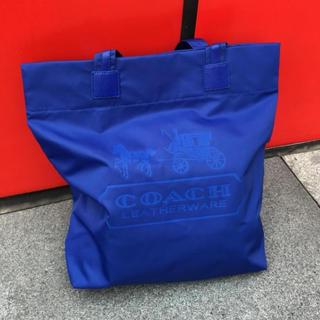 コーチ(COACH)の【 新品未使用】 COACH コーチ ナイロン×レザートートバック 青(トートバッグ)