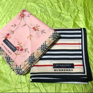 BURBERRY - 【未使用】バーバリー / ハンカチ2枚セット☆