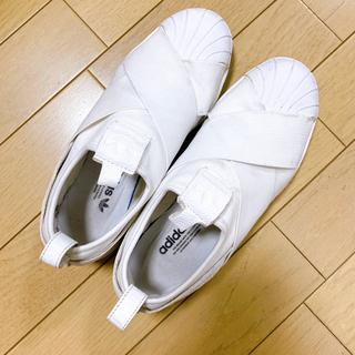adidas - adidas ホワイトスリッポン スニーカー