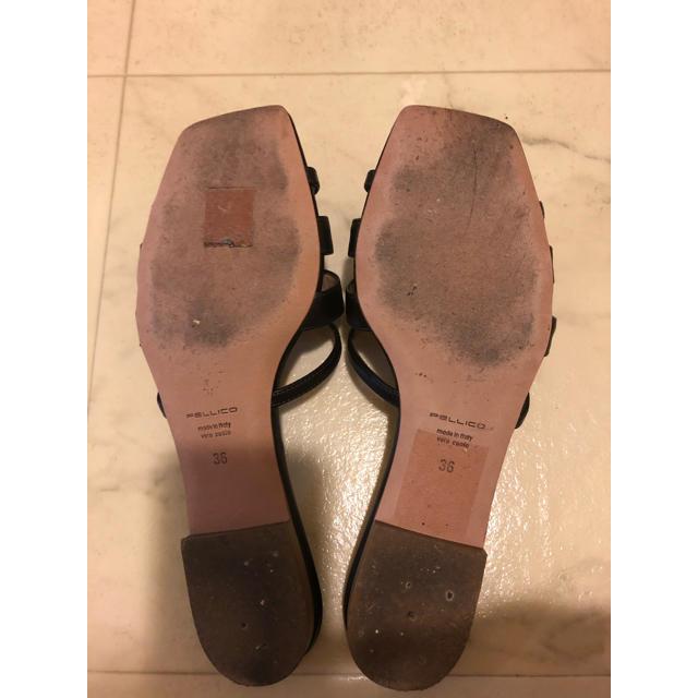 PELLICO(ペリーコ)の美品☆PELLICO フラット ミュール サンダル 23㌢ レディースの靴/シューズ(ミュール)の商品写真