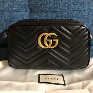 Gucci - GUCCI グッチGGマーモント 金具 キルティングスモールショルダーバッグ