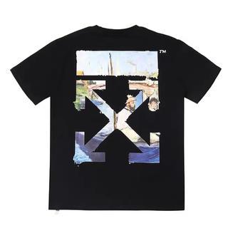OFF-WHITE - Off white オフホワイト ブラック Tシャツ Mサイズ