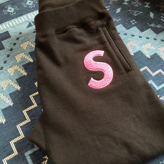 Supreme - Supreme Sロゴスウェット 黒ピンク サイズS