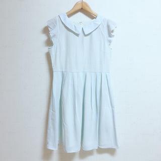 ジエンポリアム(THE EMPORIUM)のTHE EMPORIUM 衿付きストライプワンピース ドレス(ひざ丈ワンピース)
