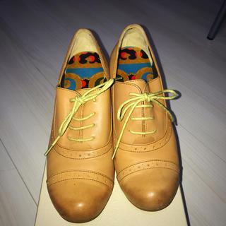 アシナガオジサン(あしながおじさん)のヒール付ローファー(24.5cm)(ローファー/革靴)