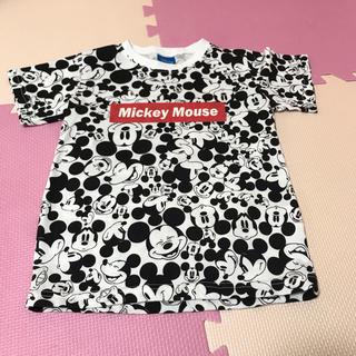 Disney - Disney ミッキー 総柄 Tシャツ120 ディズニーMickey Mouse