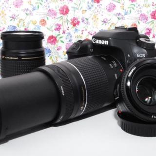 キヤノン(Canon)の【超人気】Canon EOS 80D トリプルレンズ 豪華付属品付き!!(デジタル一眼)