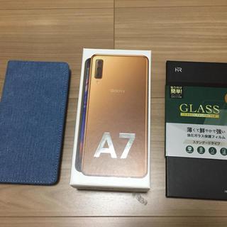 SAMSUNG - GALAXY A7 ゴールド 新品未使用 おまけ多数