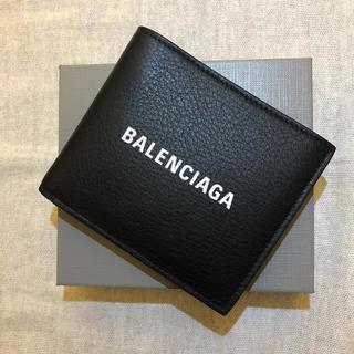 バレンシアガ(Balenciaga)のBALENCIAGA バレンシアガ  EVERYDAY 二つ折り財布 ブラック(折り財布)