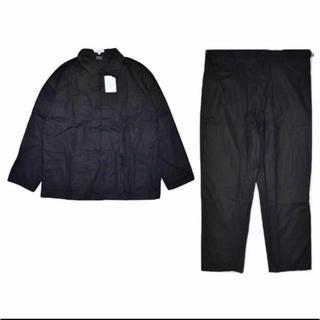 デッドストック フレンチ チャイナ ジャケット パンツ セットアップ 黒 56