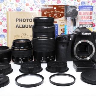 キヤノン(Canon)の◆超人気◆Canon EOS 70D トリプルレンズセット(デジタル一眼)