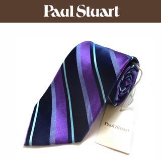 ポールスチュアート(Paul Stuart)の【新品】Paul Stuart ネクタイ 日本製 レジメンタル柄(ネクタイ)