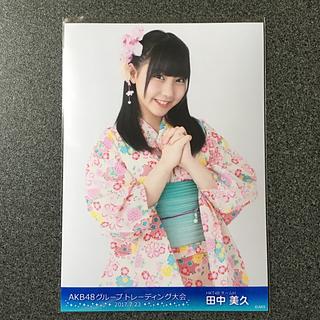 エイチケーティーフォーティーエイト(HKT48)のHKT48 田中美久 AKB48 トレーディング大会 2017.7.23 生写真(アイドルグッズ)