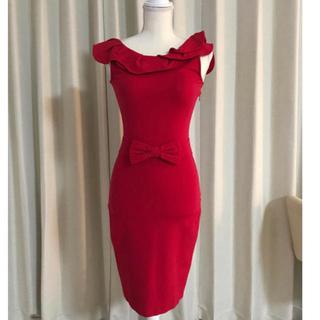 RED VALENTINO - 美品RED VALENTINO フリル ウエストリボンワンピース XS