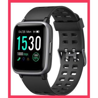 スマートウォッチ 腕時計 Yamay 最新 万歩計心拍計活動量計 IP68防水 (腕時計(デジタル))