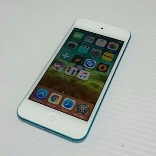 アイポッドタッチ(iPod touch)のipod touch 第5世代 A1421 32GB ブルー(ポータブルプレーヤー)