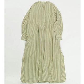 トゥデイフル(TODAYFUL)のストライプシャツドレス 36(ロングワンピース/マキシワンピース)