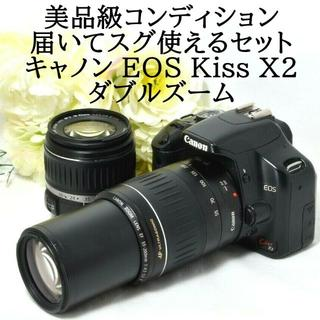 キヤノン(Canon)の★美品級★届いてスグ使えるセット★キャノン X2 ダブルズーム(デジタル一眼)