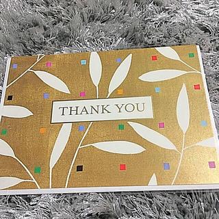 【新品未使用】メッセージカード*THANK YOUカード*カード(カード/レター/ラッピング)