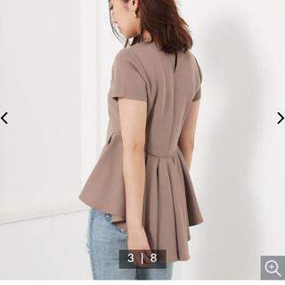 リエンダ(rienda)のrienda バッグテールペプラムtop(Tシャツ(半袖/袖なし))