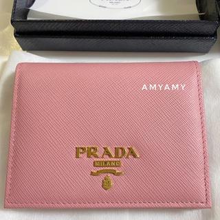 PRADA - プラダ サフィアーノレザー 折り財布 ピンク