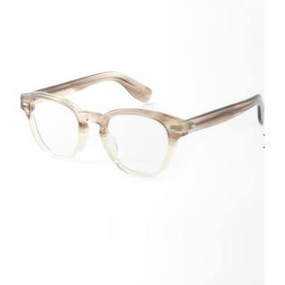 アパルトモンドゥーズィエムクラス(L'Appartement DEUXIEME CLASSE)の新品OLIVER PEOPLES/オリバーピープルズメガネ/ベージュ(サングラス/メガネ)
