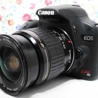 キヤノン(Canon)の☆Wi-Fi+動画☆Canon EOS kiss X3 レンズセット(デジタル一眼)