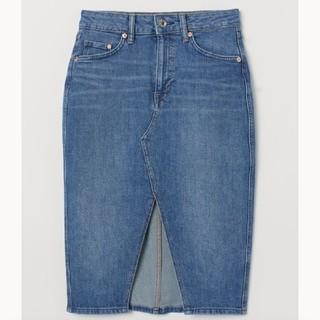 エイチアンドエム(H&M)のH&M ニーレングスデニムスカート(ひざ丈スカート)