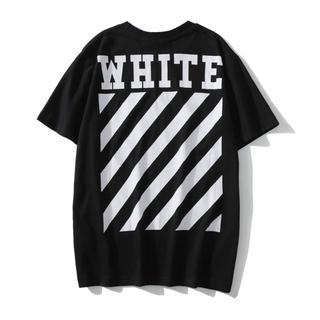 OFF-WHITE - OFF WHITE Tシャツ 半袖 メンズ レディース 夏 黒