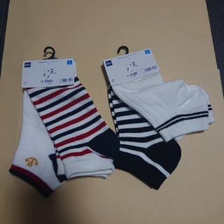 ジーユー(GU)のGU 靴下 21~24cm GIRLS ショートソックス 4足セット(靴下/タイツ)