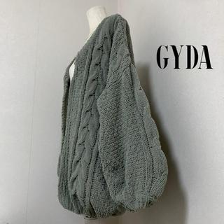 GYDA - GYDA ケーブルニットカーディガン  カーキ