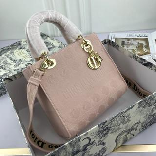 Dior - DIOR ピンク ハンドバッグ ショルダーバッグ