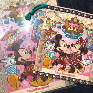 Disney - ディズニー 37周年 ダブルポケットホルダー きんちゃく セット