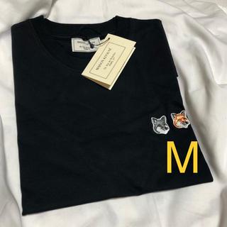 MAISON KITSUNE' - メゾンキツネ maison kitsune Tシャツ M ダブル 黒