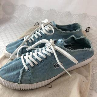 LACOSTE - ☆決算セール☆ラコステ スニーカー 靴 ブルー レディース メンズ 青色