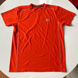 UNDER ARMOUR - アンダーアーマー☆cold Black オレンジのTシャツ LG