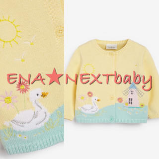 NEXT - next♡ネクスト レモン 風景柄 カーディガン