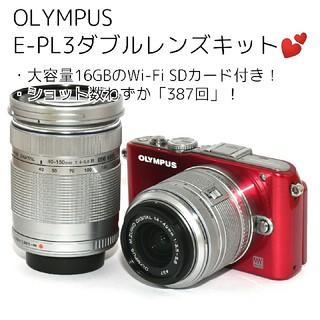 OLYMPUS - 【OLYMPUS】ショット数わずか「387回」♡E-PL3ダブルレンズキット