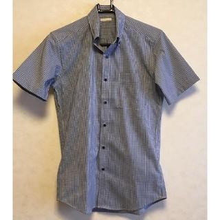 GU - GUメンズ 半袖チェックシャツ